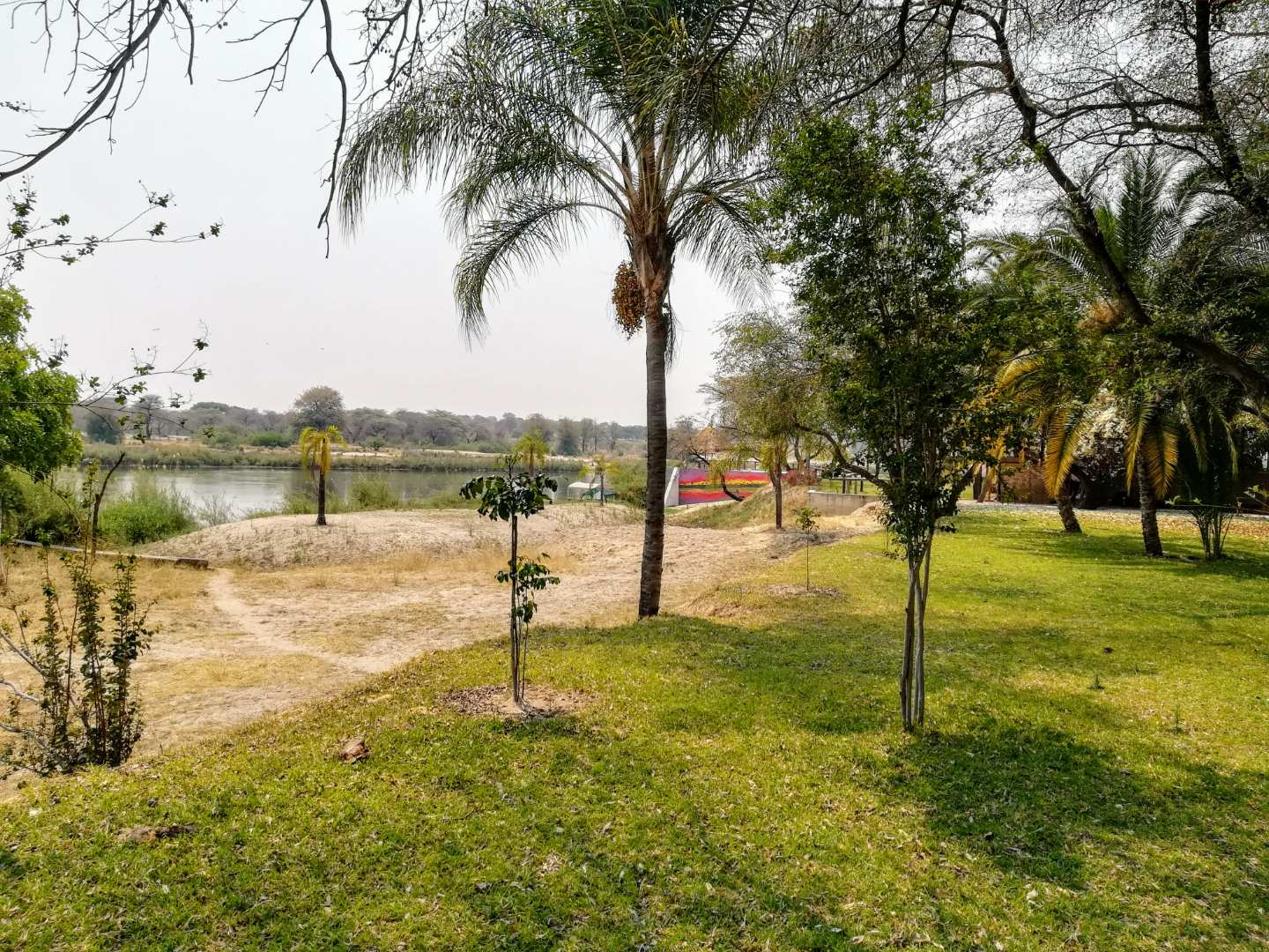 The Kavango river beautiful view from the bungalows.