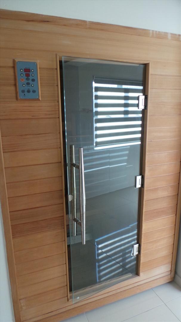 Sauna in main bedroom private bathroom