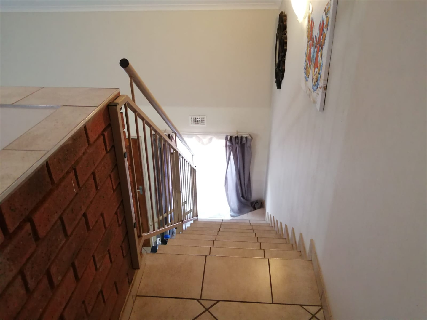 View of staircase going down