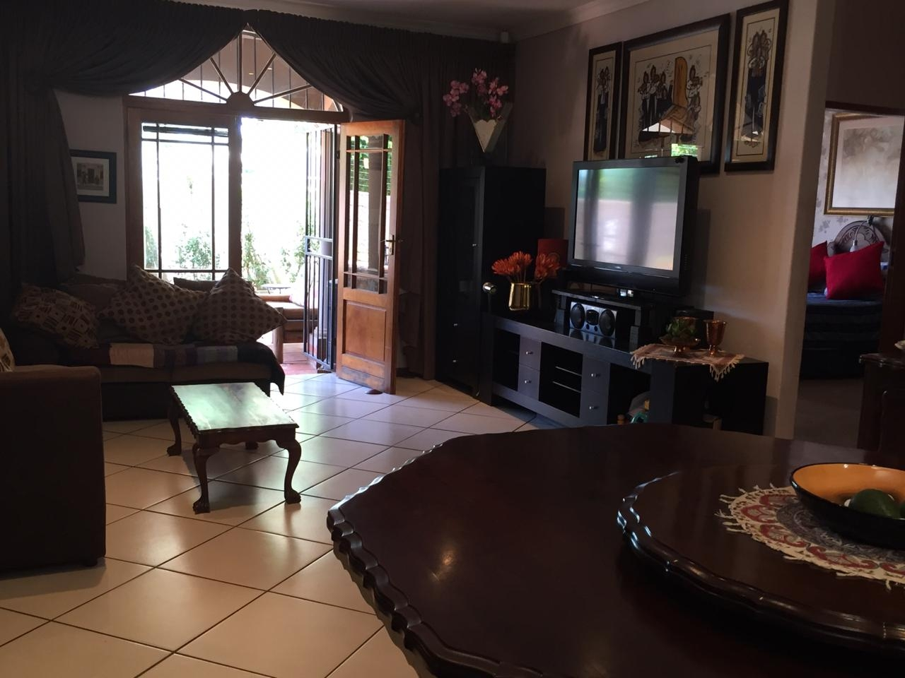 View of living area from front entrance