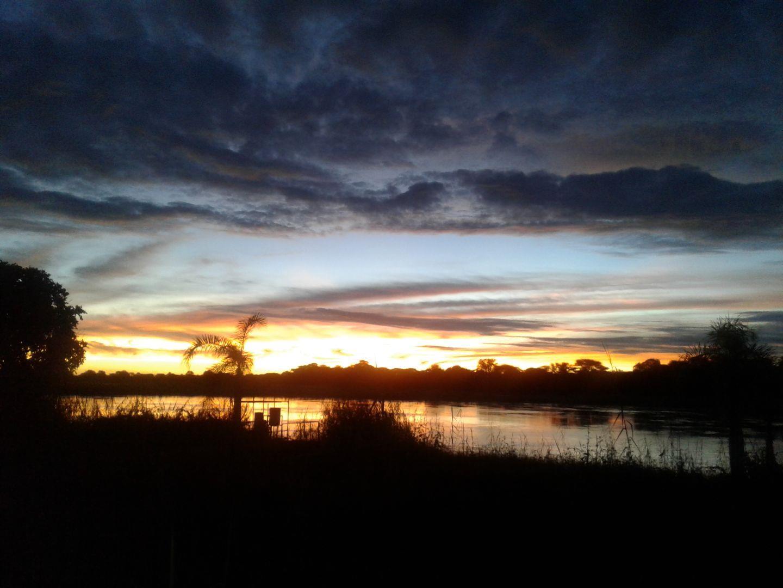 Beautiful sunset on the Kavango river