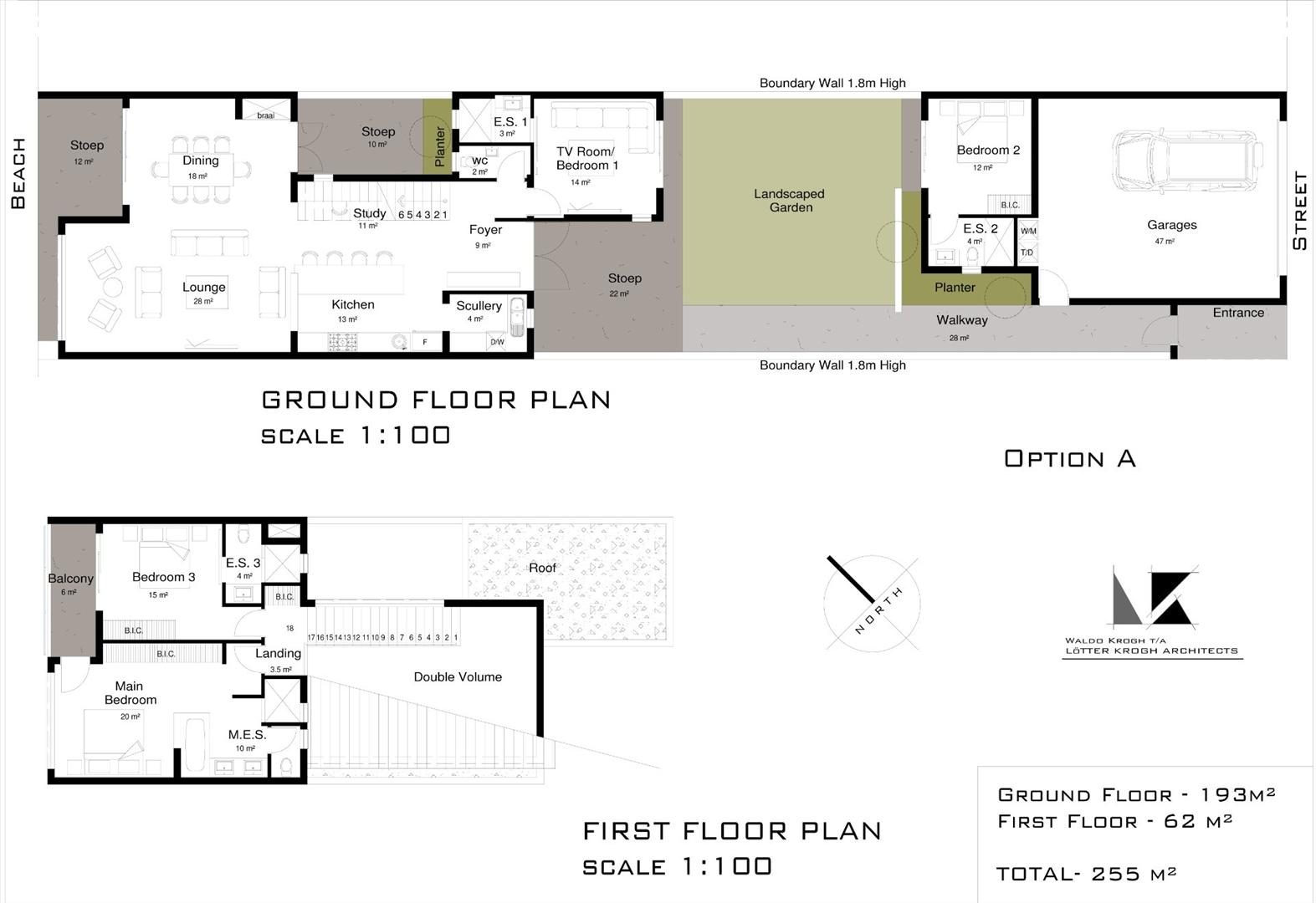 Option A floor plan