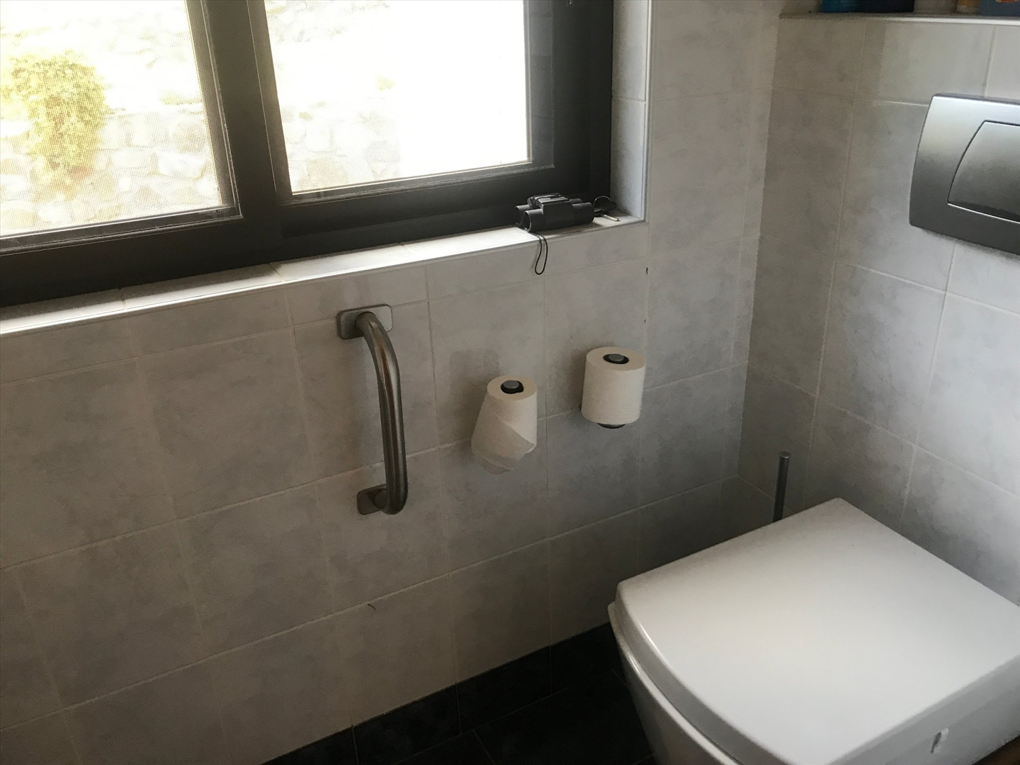 Private toilet for main bedroom