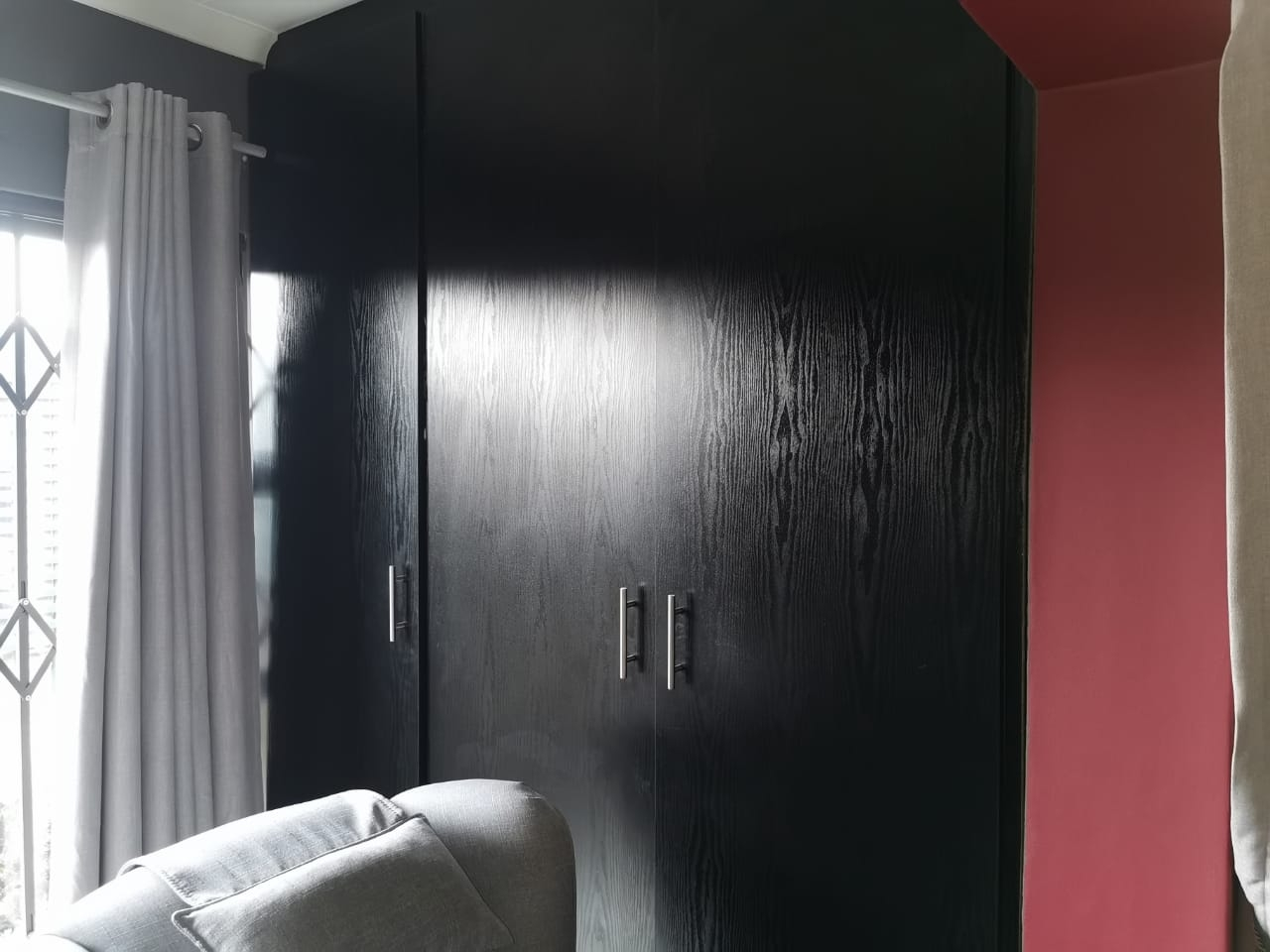 Built-in cupboards in the living area