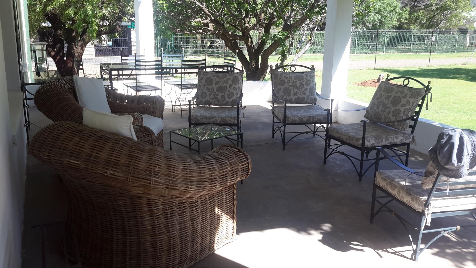 Large veranda outside overlooking garden