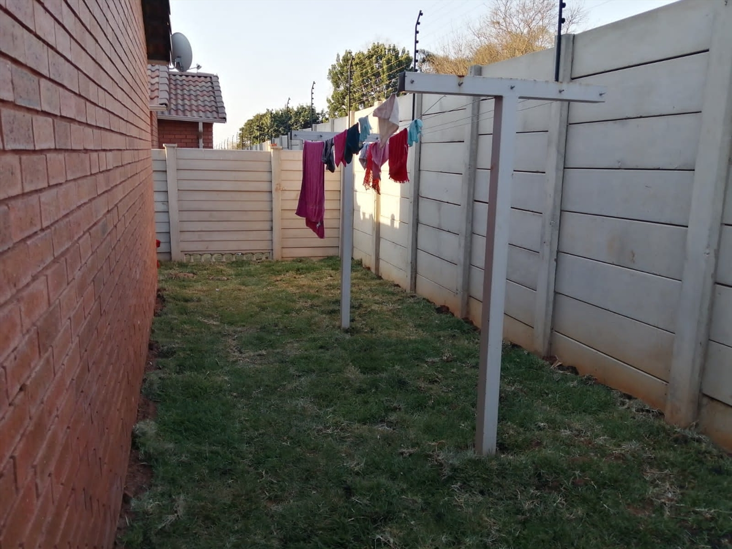 Private garden with washing line
