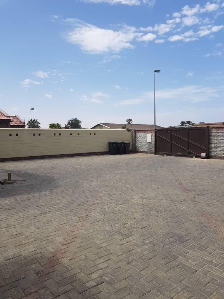 Interlocked area in front of garages