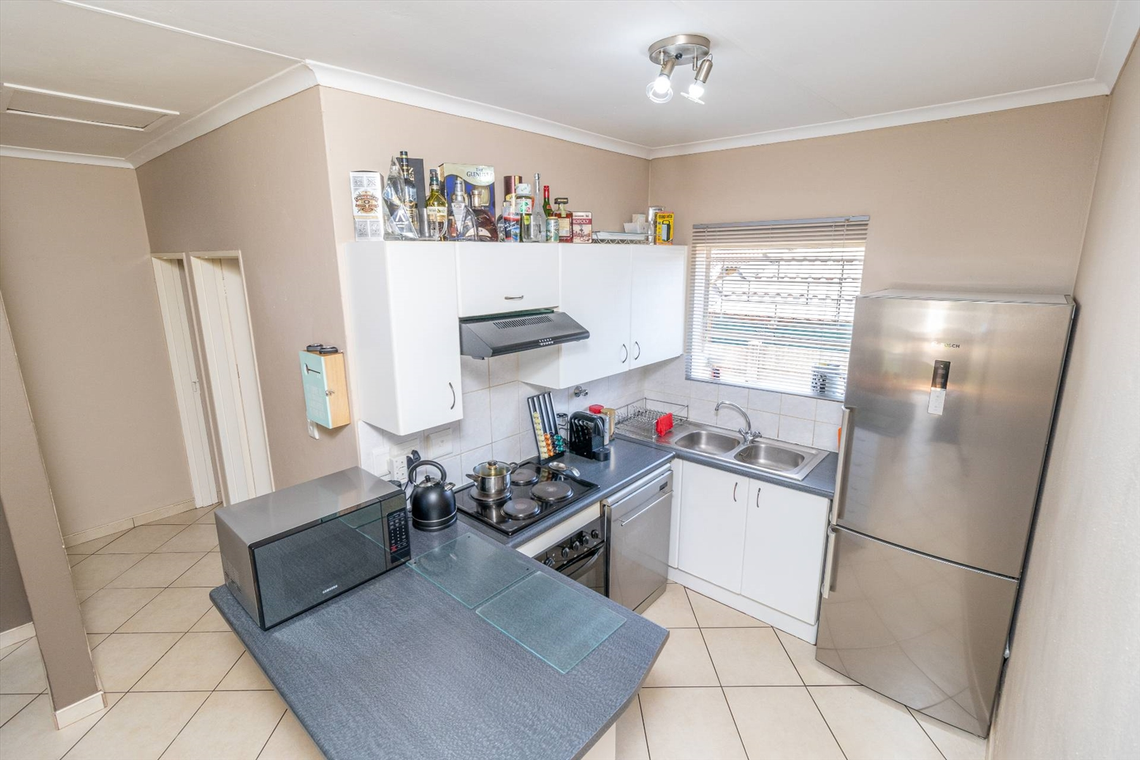 Kitchen, additional plumbing in garage