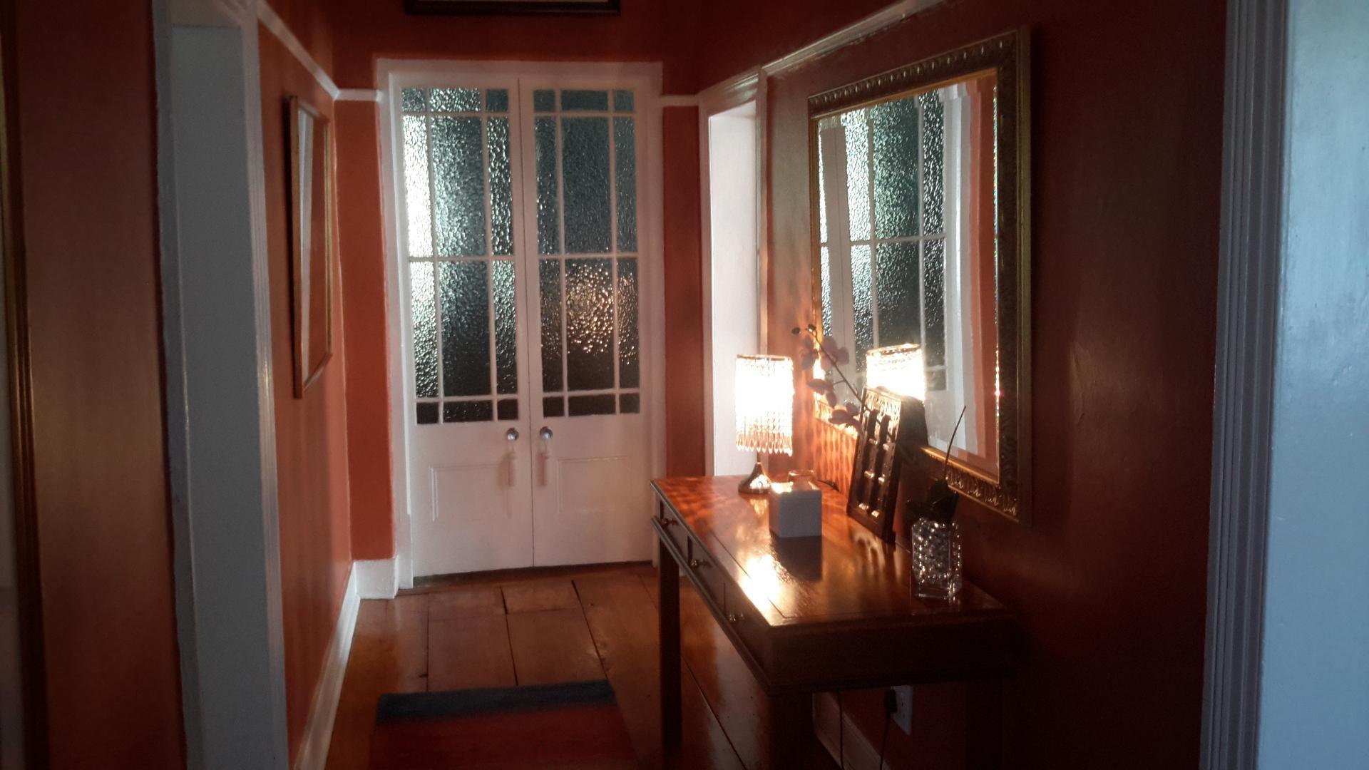 Hallway with beautiful wooden  floors