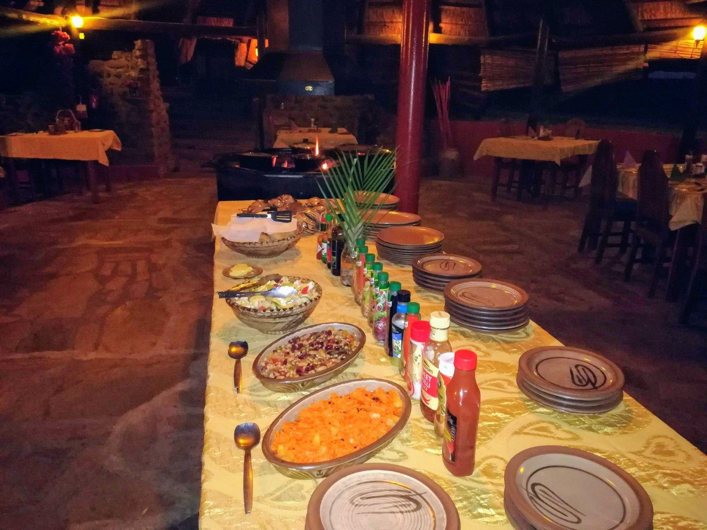 Restuarant with the best Chef Nkwazi Lodge style