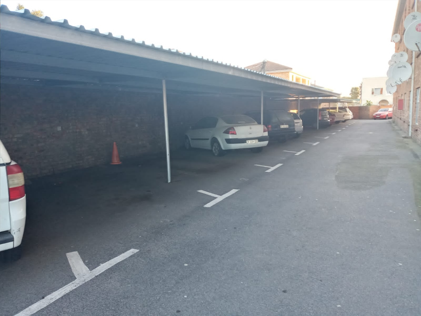 Covered parking bays