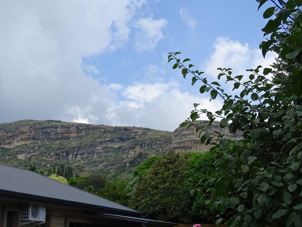 View of the mountains in the background from the driveway