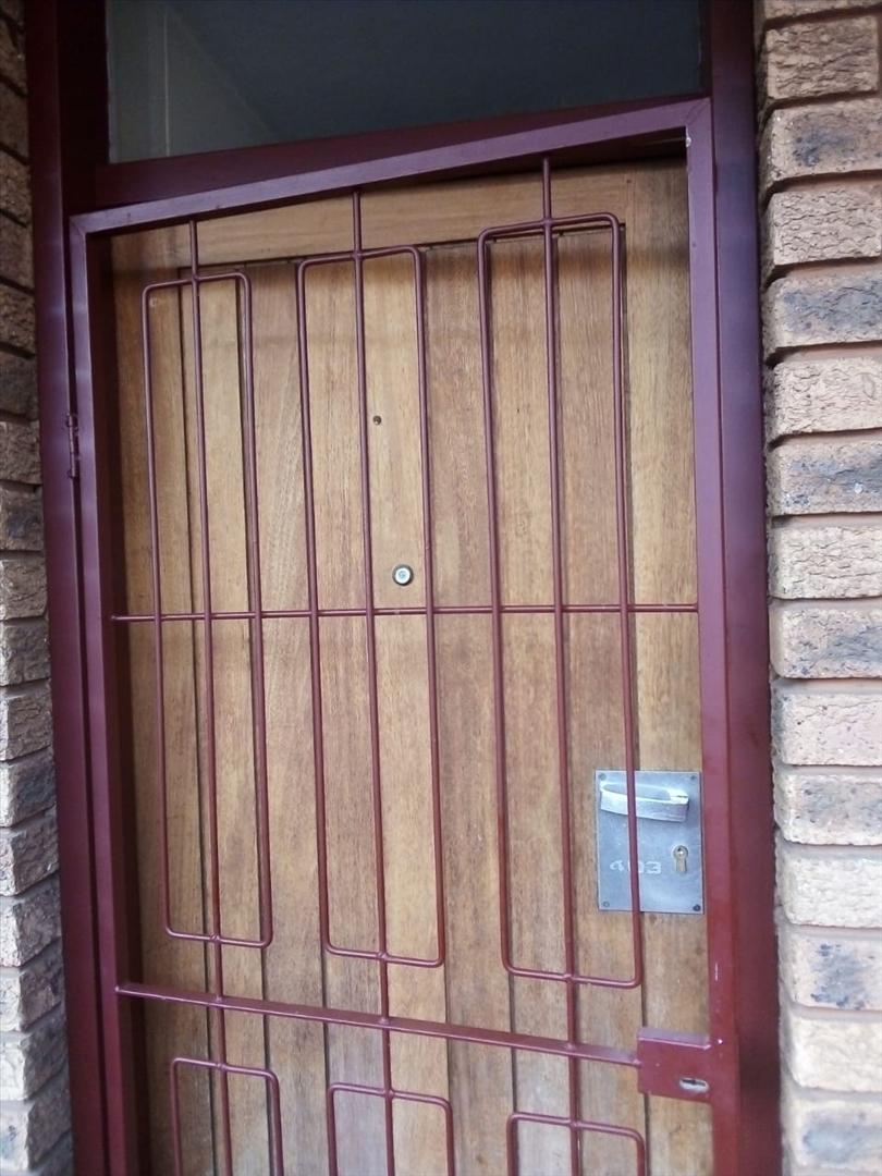 Secure front door to apartment