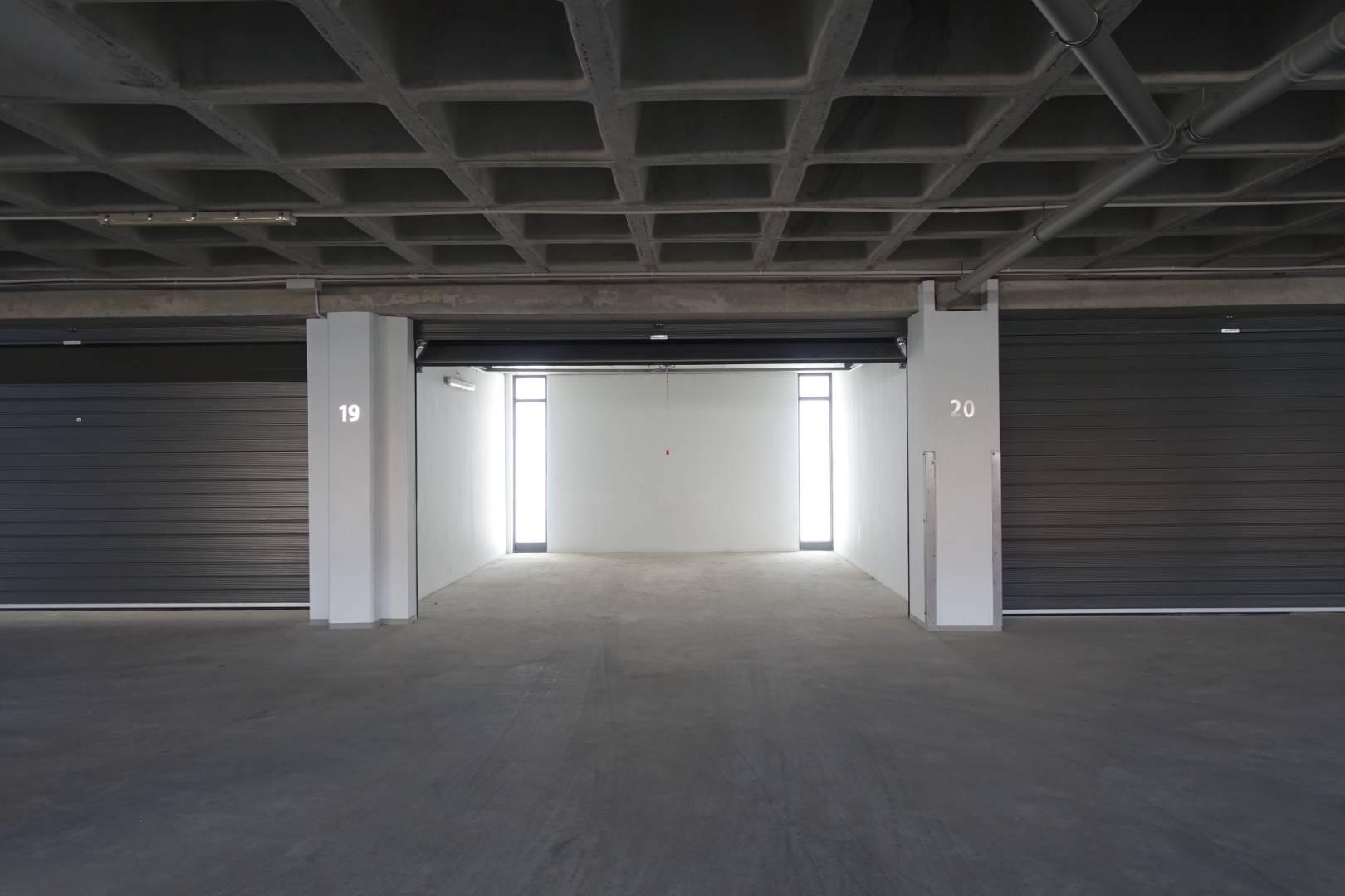Garage storage on first floor