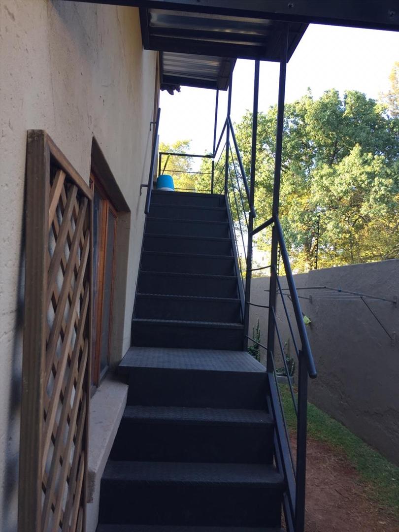 Staircase to bachelor flat