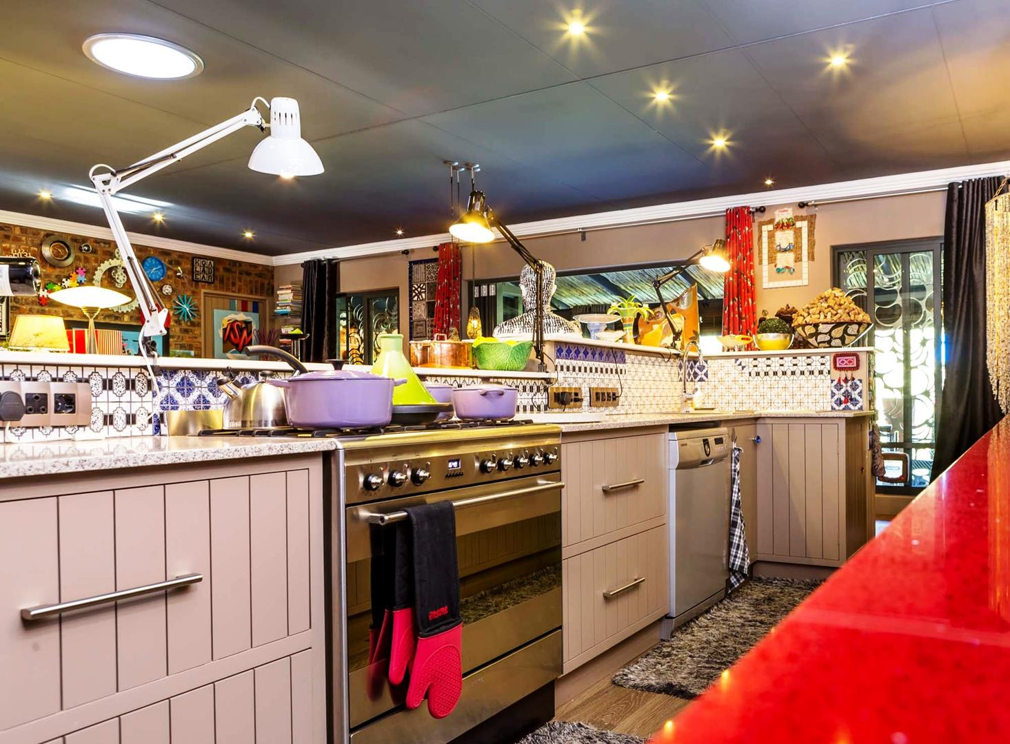Inside the galley kitchen