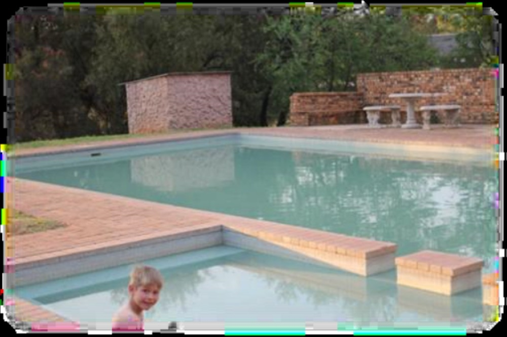 Swimming pool with baby pool