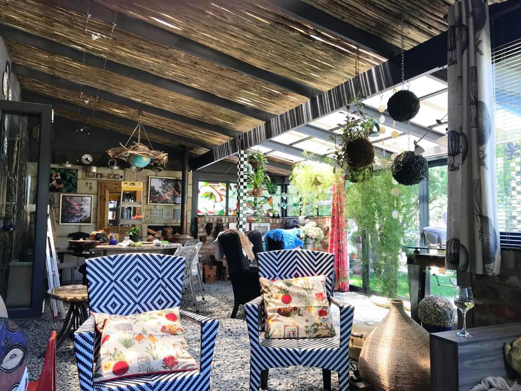 Outside patio viewed from the outside lounge area
