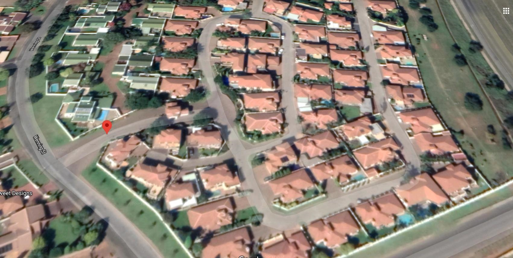 Aerial view of units in Estate