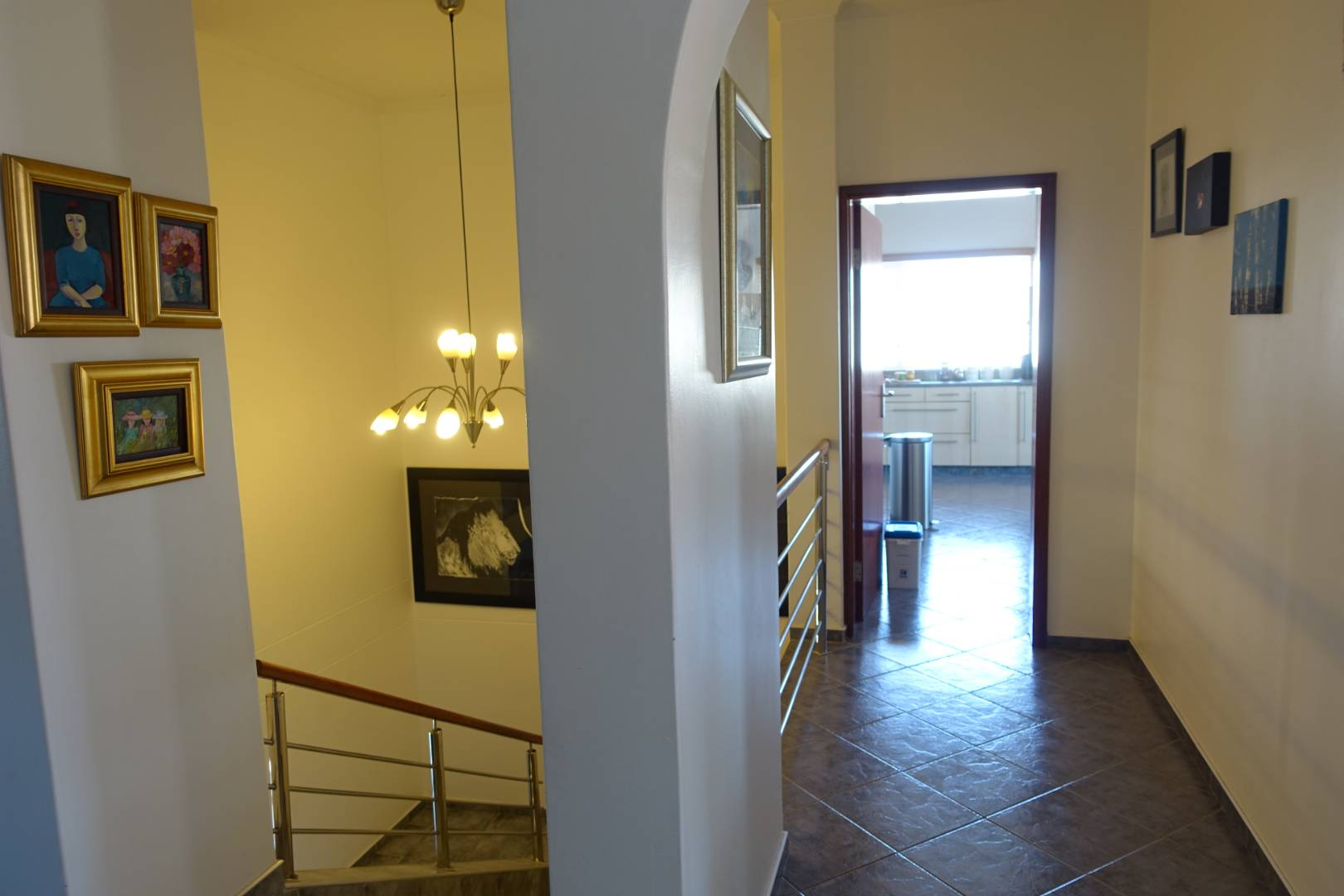Staircase leading to the apartment on first floor