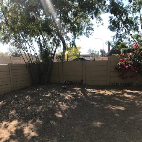 very spacious back yard/garden