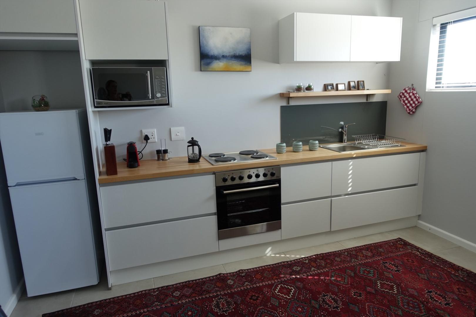 Flat kitchen area