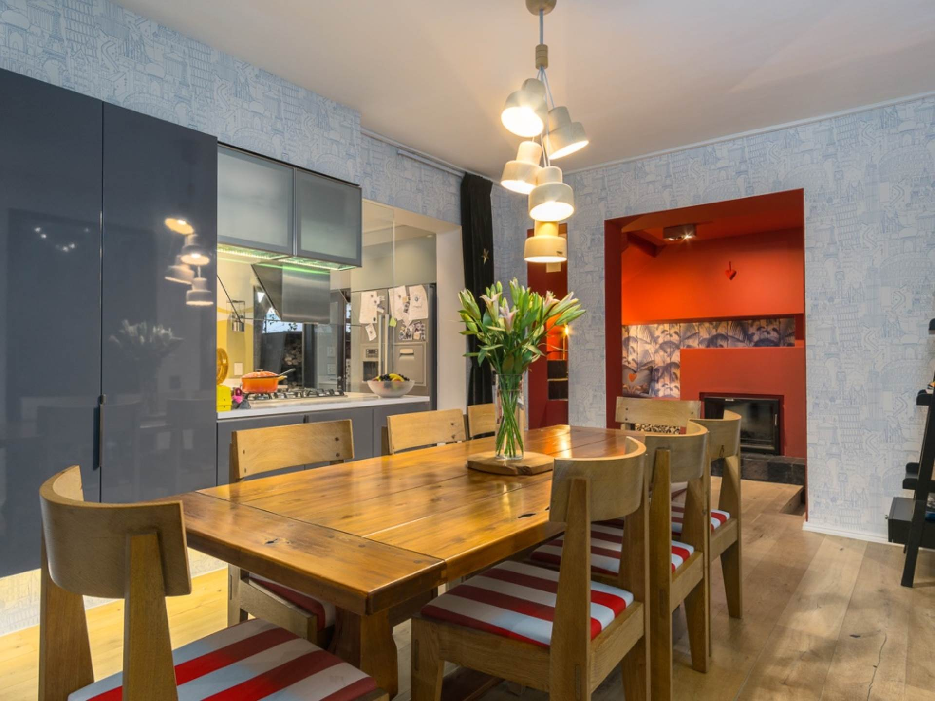 Dining Area Fire Place