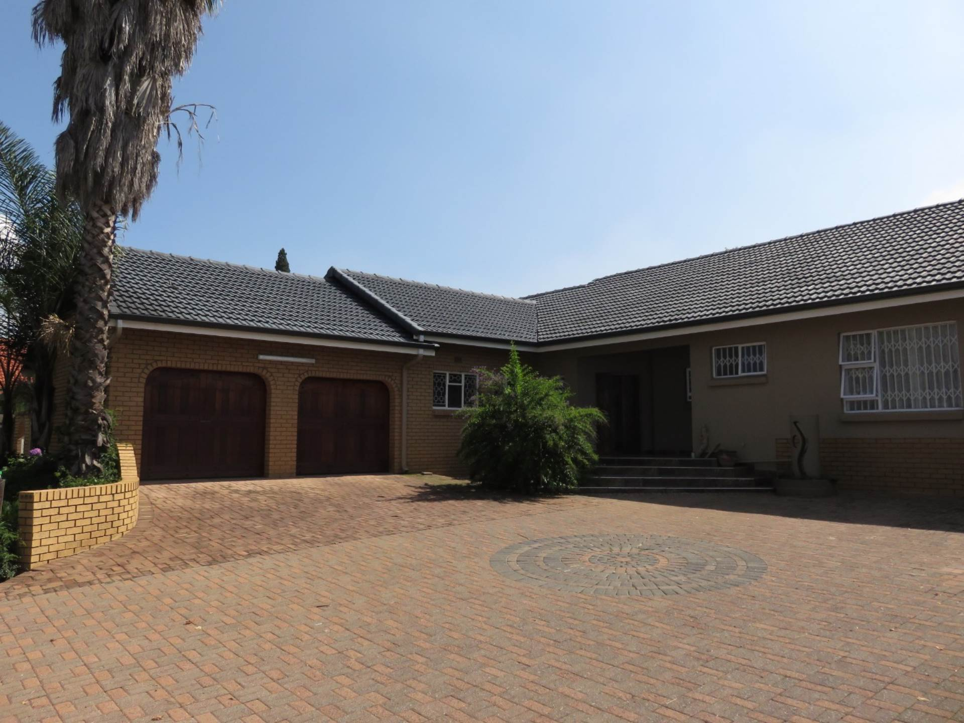 Front View & Double garage