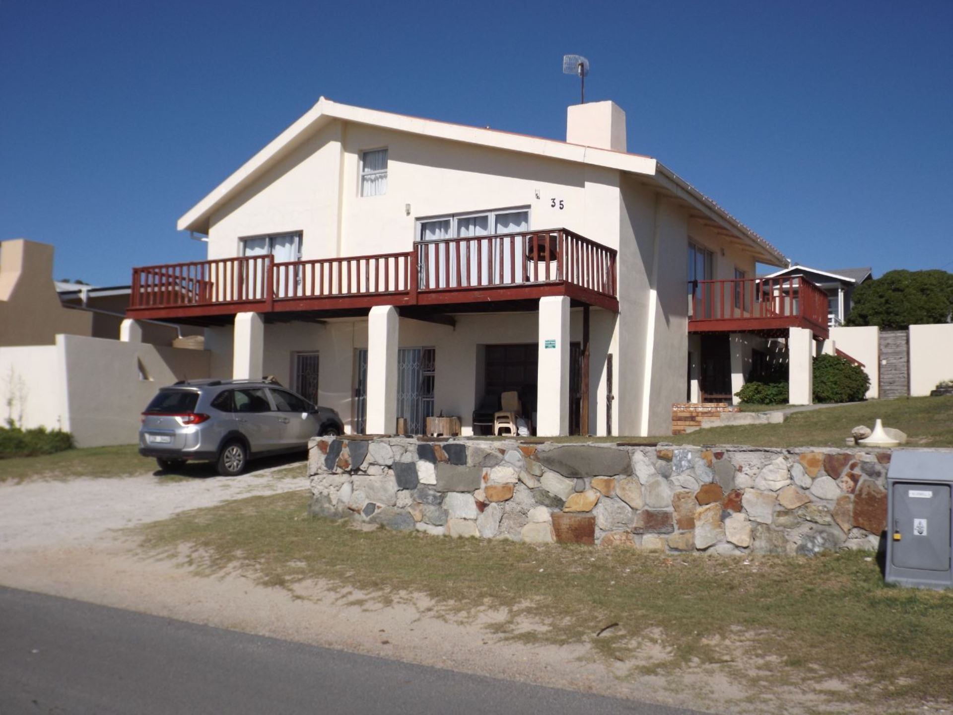 Front View of House  -  from the one side.