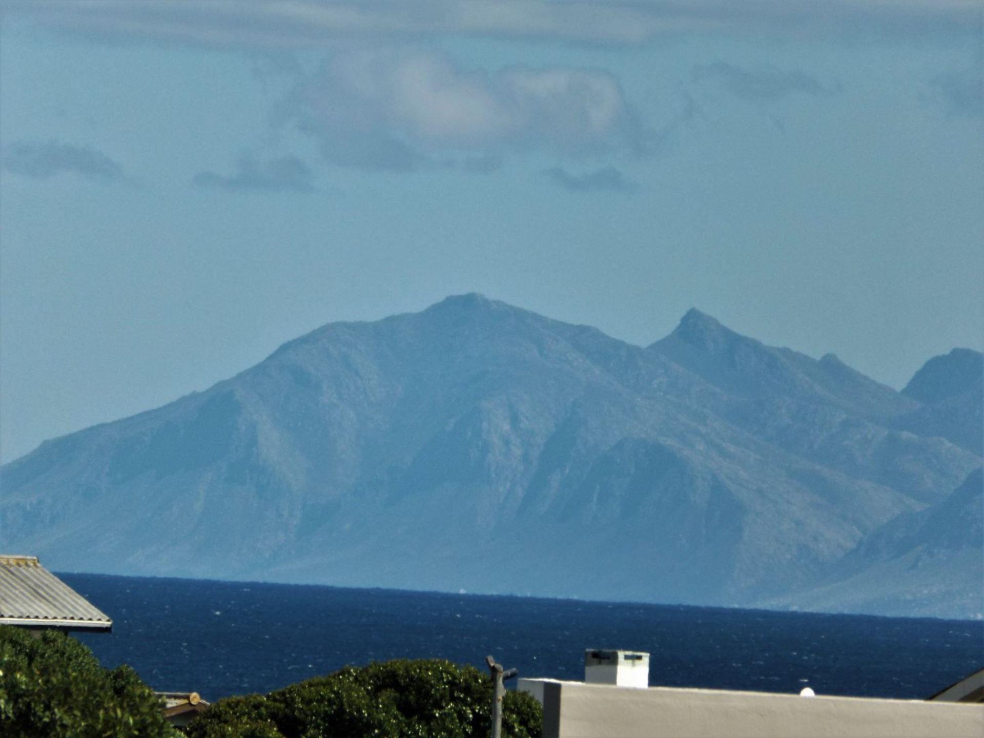 View to our right (zoomed in a bit);  Hermanus in background.