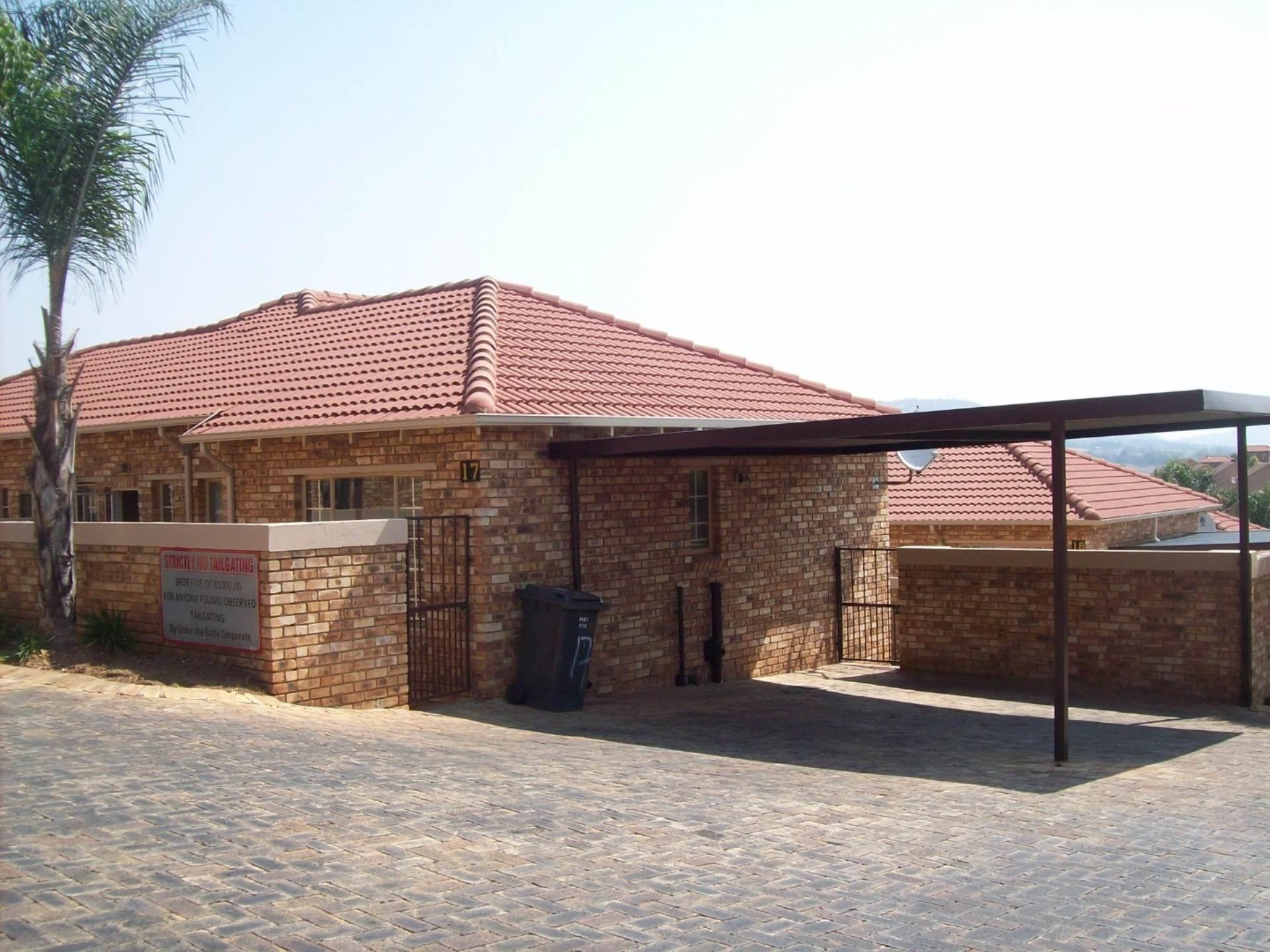 2 BedroomTownhouse To Rent In Wilgeheuwel