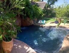 Rock pool in garden