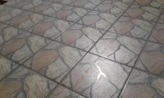 Close view of stoep tiles