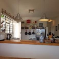 open plan kitchen area with good lighting
