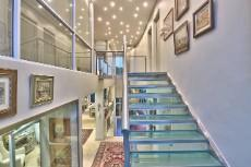 Glass Staircase allowing for lots of light