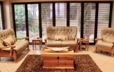 Braai room with folding doors to garden