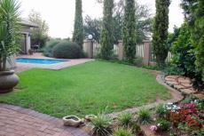 Enclosed garden next to green area
