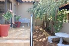Open patio and yard