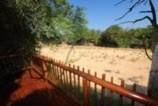 View of riverbed from deck
