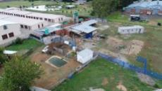 Portion 1 showing aquaponics farm and storage rooms