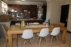 Open-plan dining area and kitchen