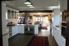 Open-plan kitchen with gas stove