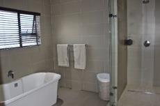 Main bathroom bath and shower