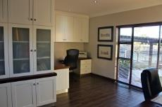 Fitted study with sliding door to outdoor seating area