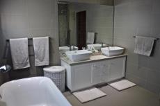 Family bathroom bath and vanity