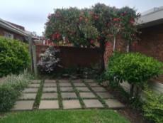 Private green garden.