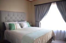 Spacious guest bedroom.