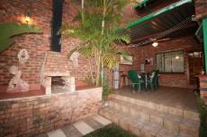 Built in braai with patio