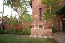 Private garden with braai