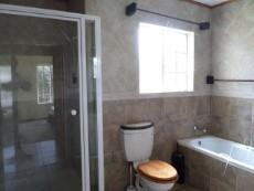 decent sized shower and bath